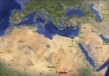 Az első jeladós szalakóták vonulási térképe (Fotó: Tokody Béla).